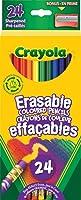 Crayola 24 Erasable Coloured Pencils, Adult Colouring Pencil Crayons, Bullet Journaling, School and Craft Supplies,...