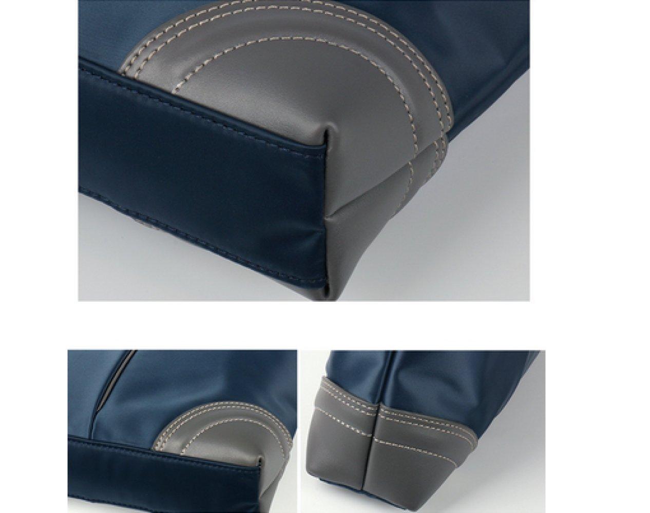 British Style Casual Men's Bag Waterproof Oxford Cloth Handbag Briefcase Shoulder Messenger Bag,Black-L by NUGJHJT (Image #8)