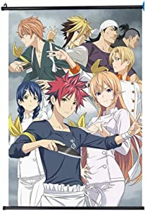 WUliuqi Food Wars Wall Scroll Anime Poster Hang Poster Otaku Cosplay Home Decor Gifts Hd Printing 40x60CM,15.75x23.62inch