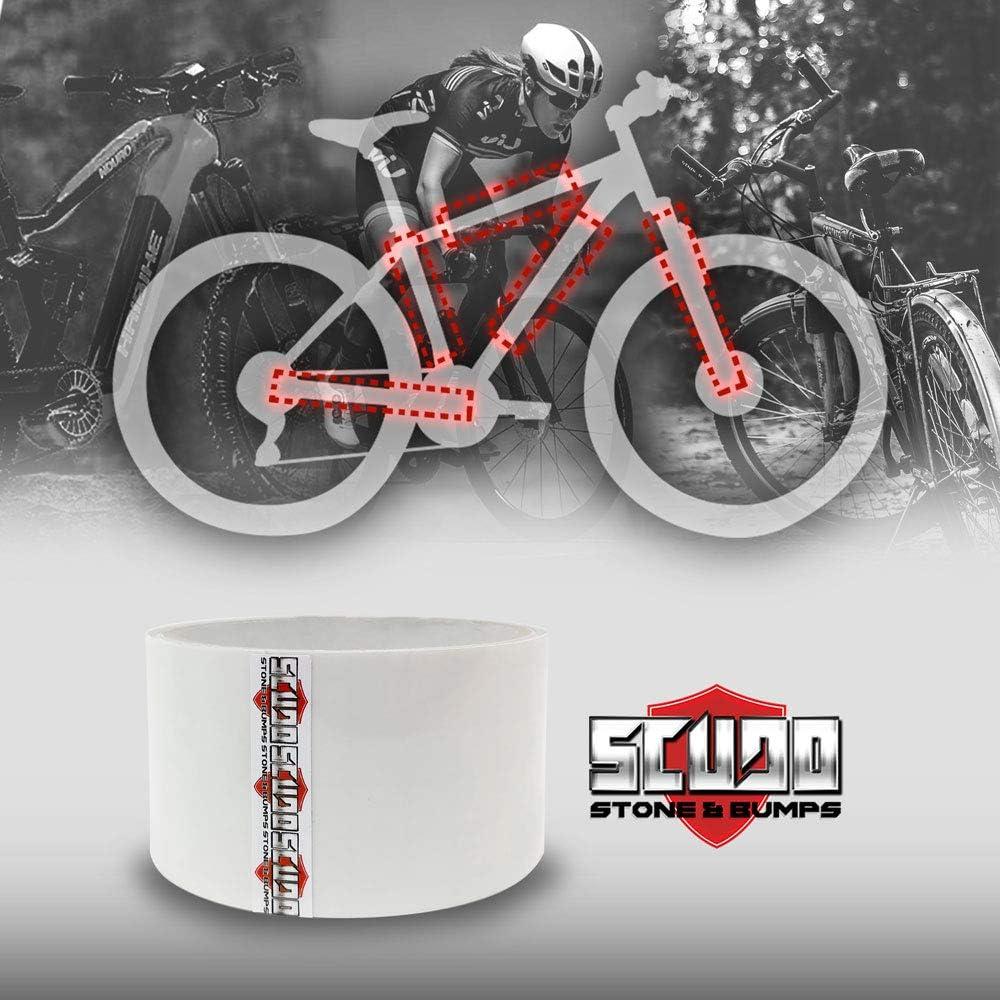 4R Quattroerre.it Quattroerre 16041 - Rollo de cinta adhesiva de protección para cuadro de bicicleta, 5 cm x 3 m
