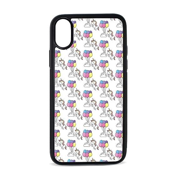 Amazon Com Apple Iphone X Case Cute Unicorn And Balloons