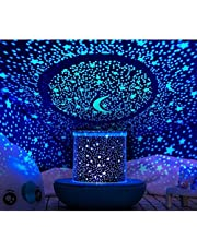 WINICE Prolight Remote Control Seabed Starry Sky Rotating LED Projector Night Light Table Lamp for Children Kids Baby Bedroom