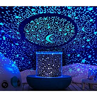 WINICE Remote Control and Timer Design Seabed Starry Sky Rotating LED Star Projector for Bedroom, Night Light for Kids…