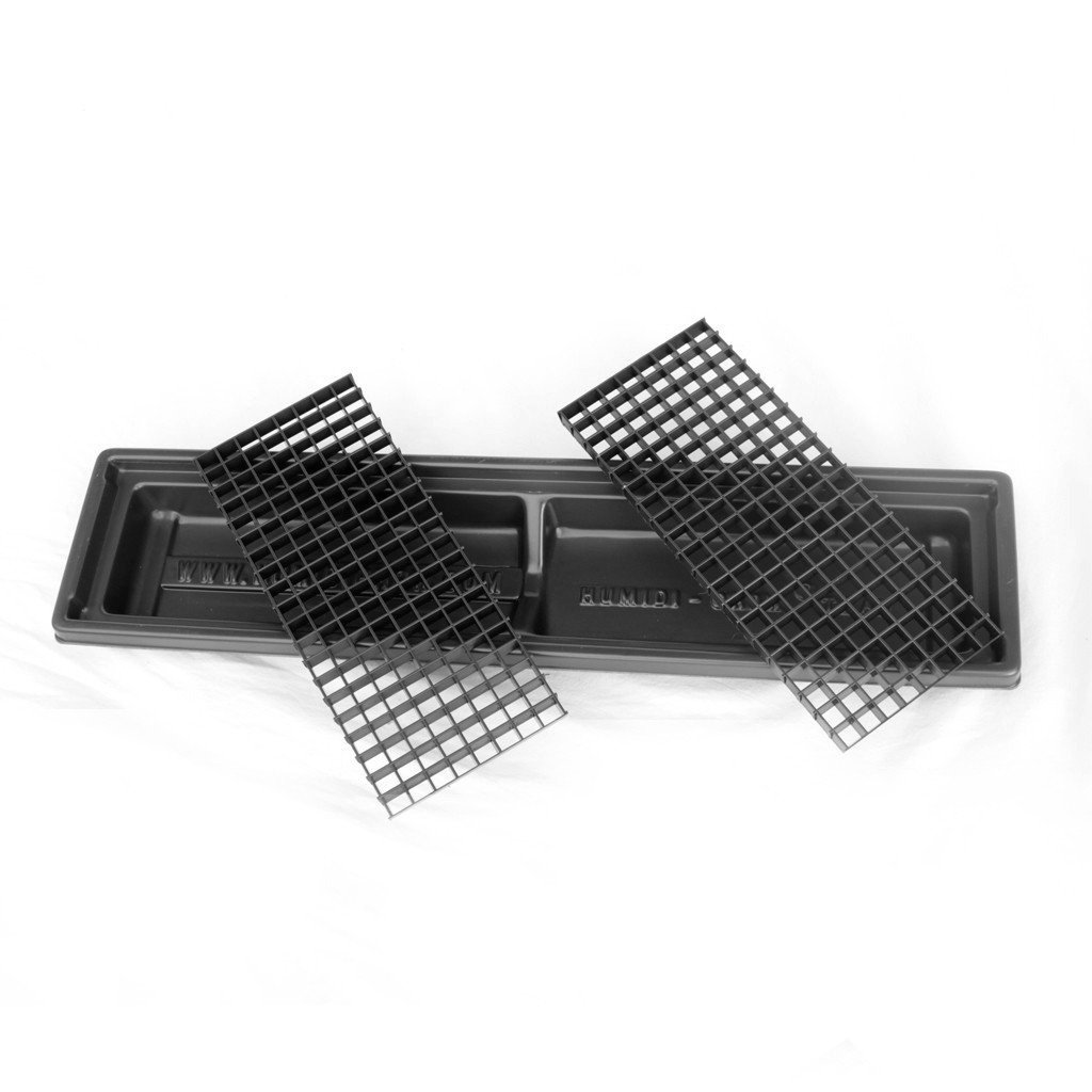 Humid-Grow Humidity Tray for Bonsai, Orchids, Other Plants HT-105 H-2 1/4IN x L-26 1/4IN x W-6 1/2IN Black by Humidi-Grow