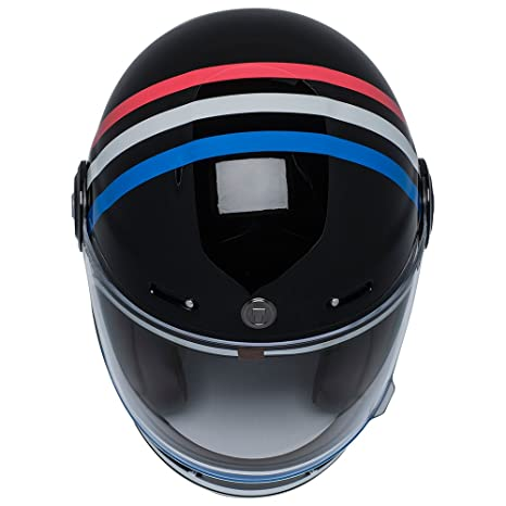 Amazon.com: TORC T1 Retro Fiberglass Full-Face-Helmet-Style Motorcycle Helmet with Graphic (Americana Tron Gloss Black,Medium), 1 Pack: Automotive
