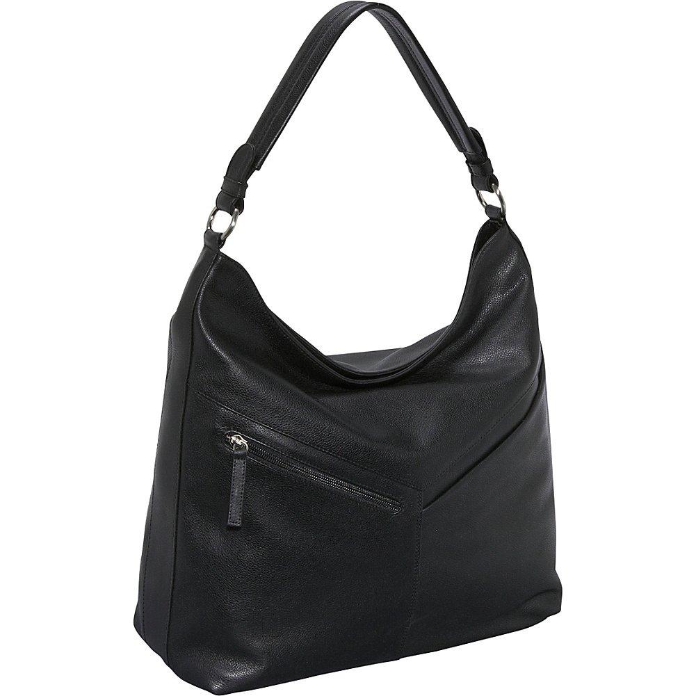 Derek Alexander Large Top Zip Slouch (Black)  Handbags  Amazon.com d3f4b90c0d04a