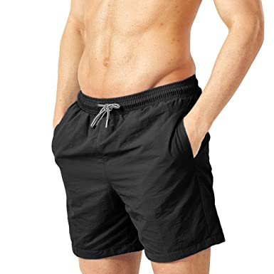 a1ea028350 Zhuhaixmy Men Nylon Quick Dry Swim Trunks Fashion Drawstring Classic Basic Beach  Shorts Surfing Swimming Watershort Swimwear: Amazon.co.uk: Clothing
