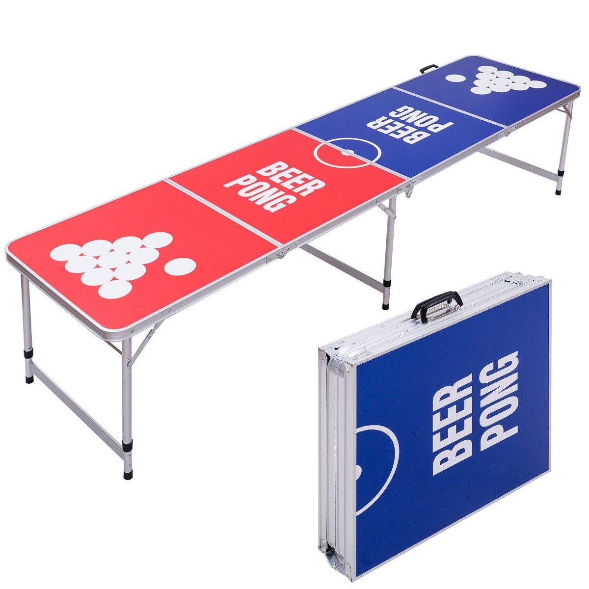 Globe家製品GHP安定性&耐久性軽量アルミ防水8 ' Foldable Beer Pong Table B07CFW94R6