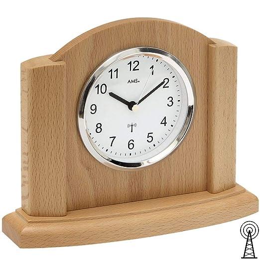 AMS Reloj De Mesa Mesa Reloj controlado por Radio Carcasa de ...