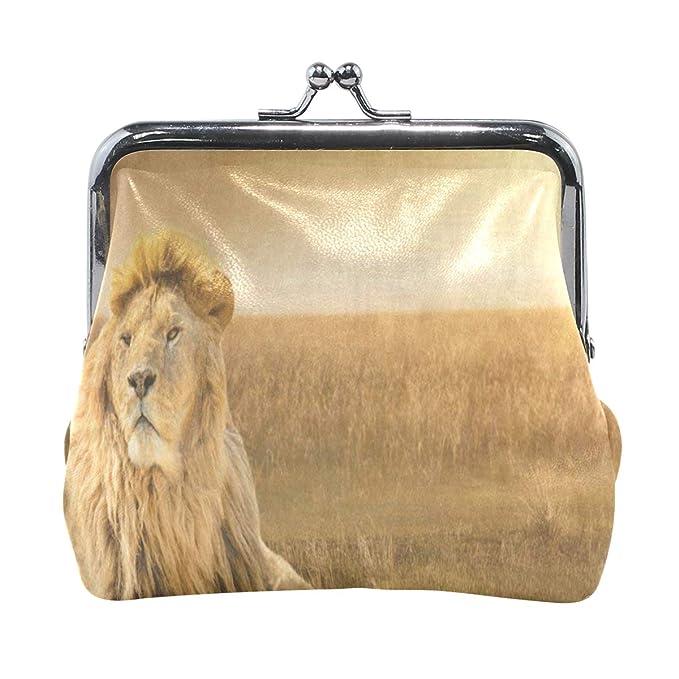 Amazon.com: Monedero Brave Lion africano de césped para ...