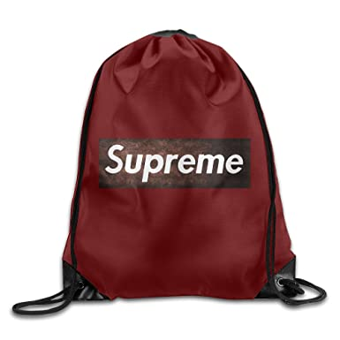 Amazon.com: A Bape Supreme Logo Drawstring Bag,drawstring Backpack ...