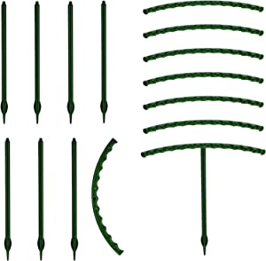 Pilleay 8PCS Small Plant Support, Garden Flower Support Stake Half Round Plant Support Plant Stakes Plastic Plant Support Rings Flower Pot Climbing Trellis for Small Plants Flowers Vegetables
