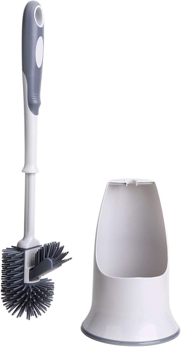 Toilet Brush Set,Toilet Bowl Brush and Holder for Bathroom Toilet - White