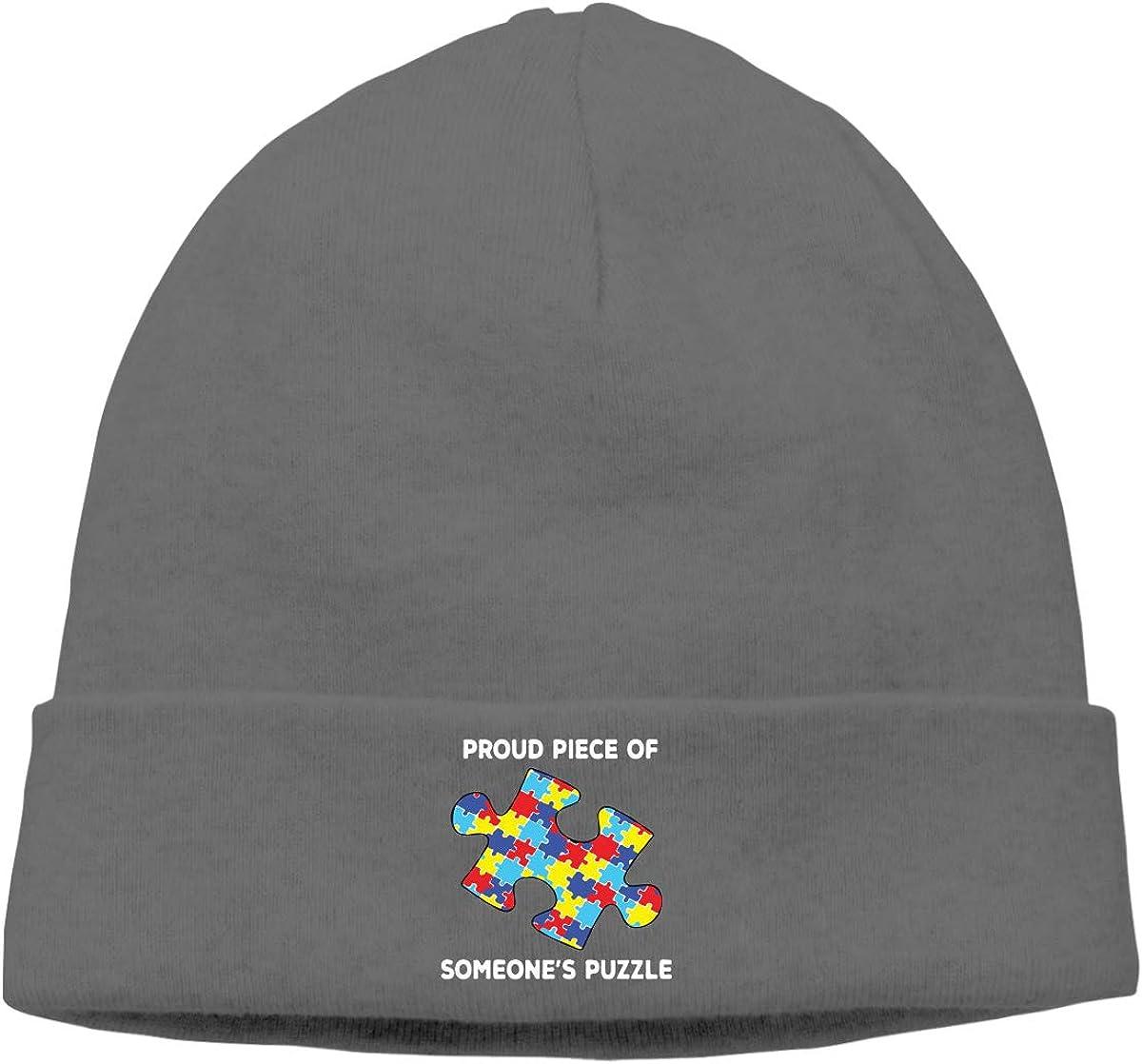 BBlooobow Men Women Piece of Autism Awareness Soft Beanie Hat