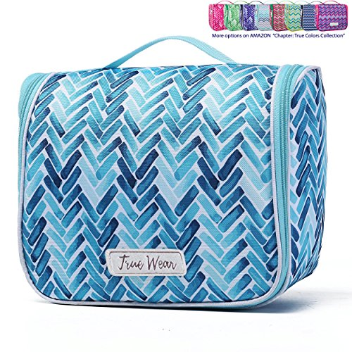 Chapter: True Colors. Large Makeup & Cosmetic Hanging Toiletry Bag Travel Organizer for Men & Women - AquaMarine