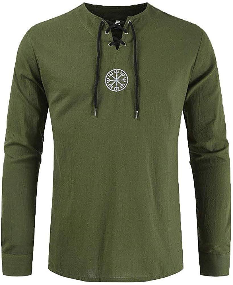 Dahee Camisa Pirata Medieval para Hombre, con Encaje, Estilo escocés - - XX-Large: Amazon.es: Ropa y accesorios