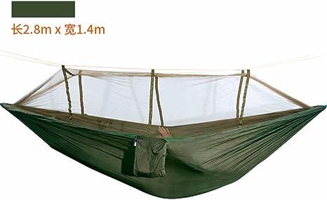 MFHP21 Colchoneta para Dormir Jardín al Aire Libre para Interiores Hamaca para Adultos Hamaca Doble Redes de Campo para hamacas (280 * 140CM), Verde: Amazon.es: Deportes y aire libre