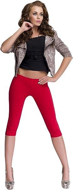 OssaFashion Leggings Donna Vita Bassa Cotone Pantaloni 3//4 Lunghezza