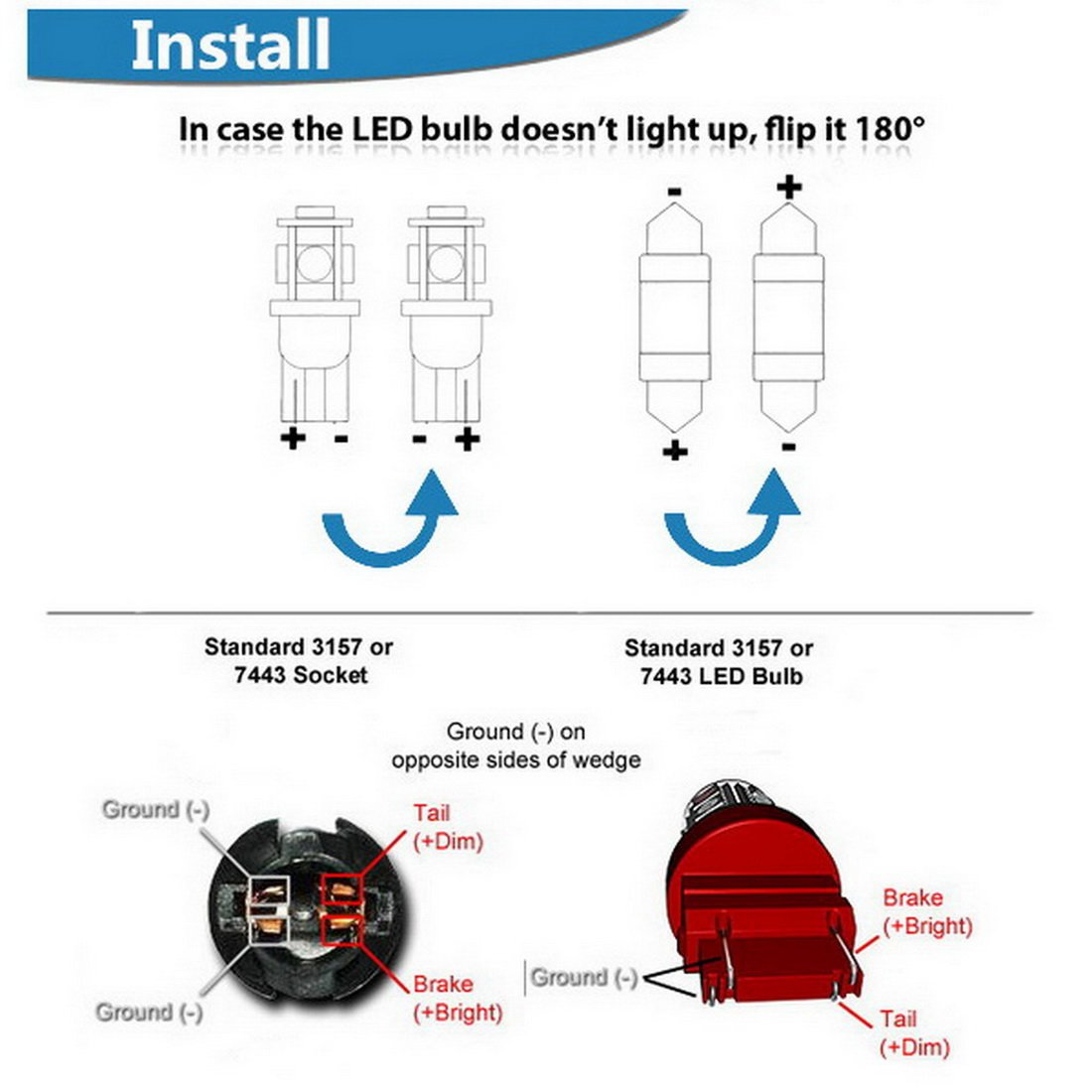 Werfamily 3157 3156 3057 4114 4157 18 Smd 5050 White Led Light Socket Wiring Diagram Bulbs For Car Auto Brake Turn Signal Taillight Parking Pack Of 2