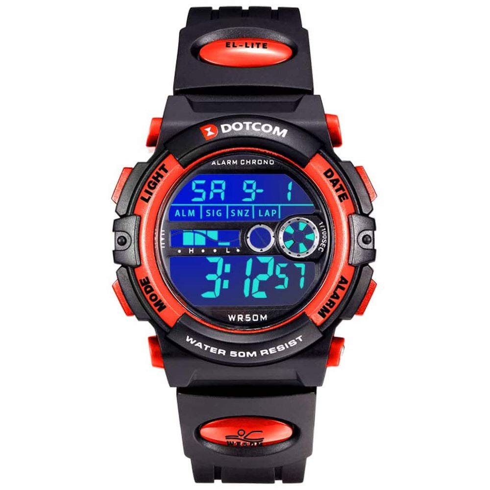 Kids Digital Watch Multi Function 50m Waterproof Children LED Alarm Wristwatch Boys
