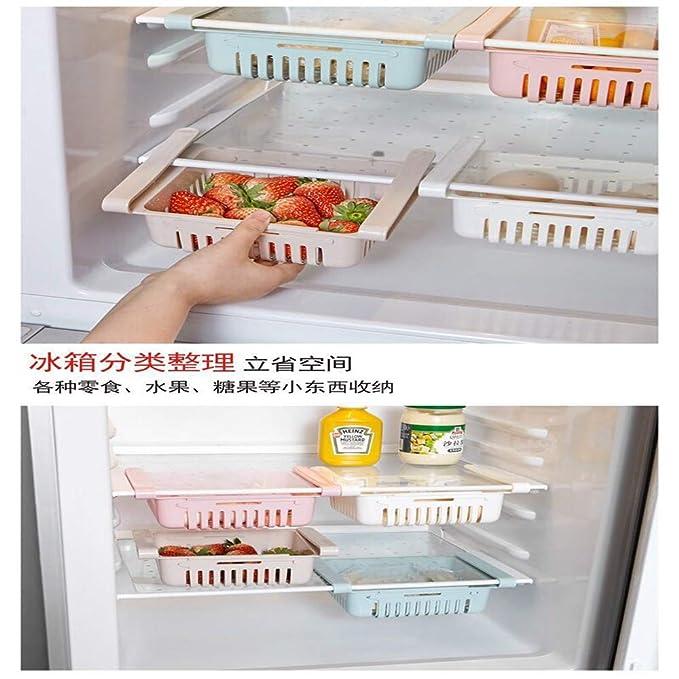 WE-WIN Refrigerador Cesta de Almacenamiento de plástico ...