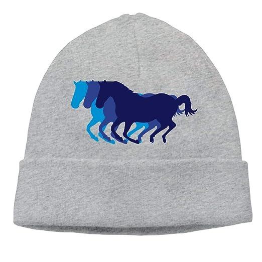 Lichang Beanie Hats Women s Winter Fashion Running Horses Watch Cap 39a0bf18654