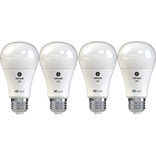 GE Lighting 42976 Refresh HD LED (40-Watt Replacement), 450-Lumen A19 Bulb, Medium Base, Daylight, 4-Pack , Title 20 Compliant