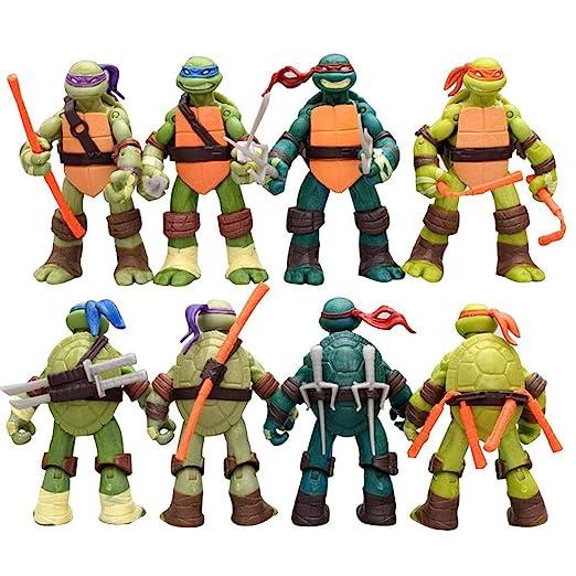 JXMODEL 4pcs Set Tortugas Ninja Figurines Animado Modelo ...