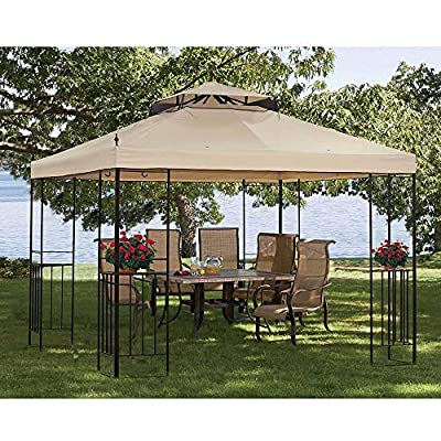 Sunjoy Replacement Gazebo top to L-GZ414PST-M : Garden & Outdoor