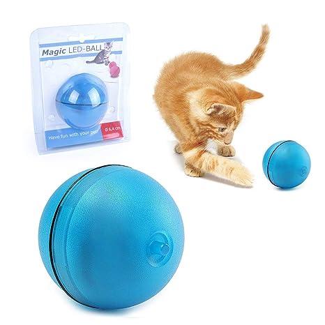 Juguetes interactivos para gatos, automático, 360 grados, autogiratorio, LED, para gatos