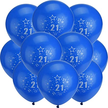 20th Birthday Party Balloons 12 Inches Set 10 Pack Glumes Number Bulk
