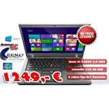 Lenovo ThinkPad T450s 35,6 cm (14Zoll) Notebook (Intel Core i5 5300U, 2,3GHz, 8GB RAM, 256GB SSD Win8.1 Pro) schwarz