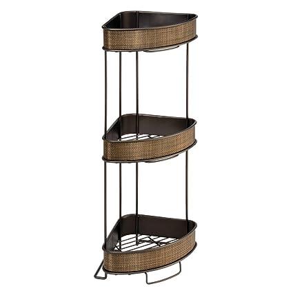 Amazon.com: InterDesign Twillo Free Standing Bathroom Corner Storage ...