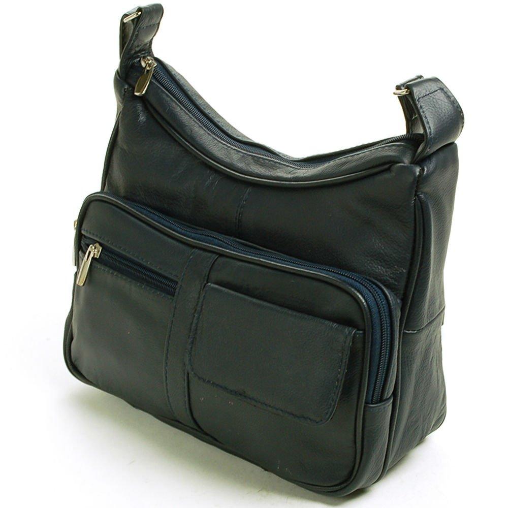 23770031f278 Amazon.com   Navy Women s Leather Organizer Purse Shoulder Bag Multiple  Pockets Cross Body Handbag   Everything Else