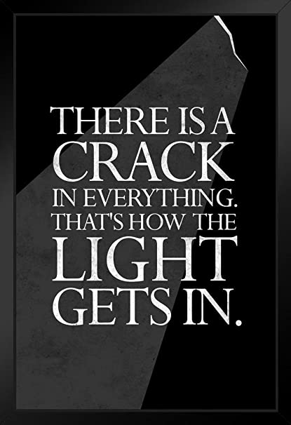 7e4c474c45752 Amazon.com  Theres A Crack in Everything Leonard Cohen Quote Framed ...