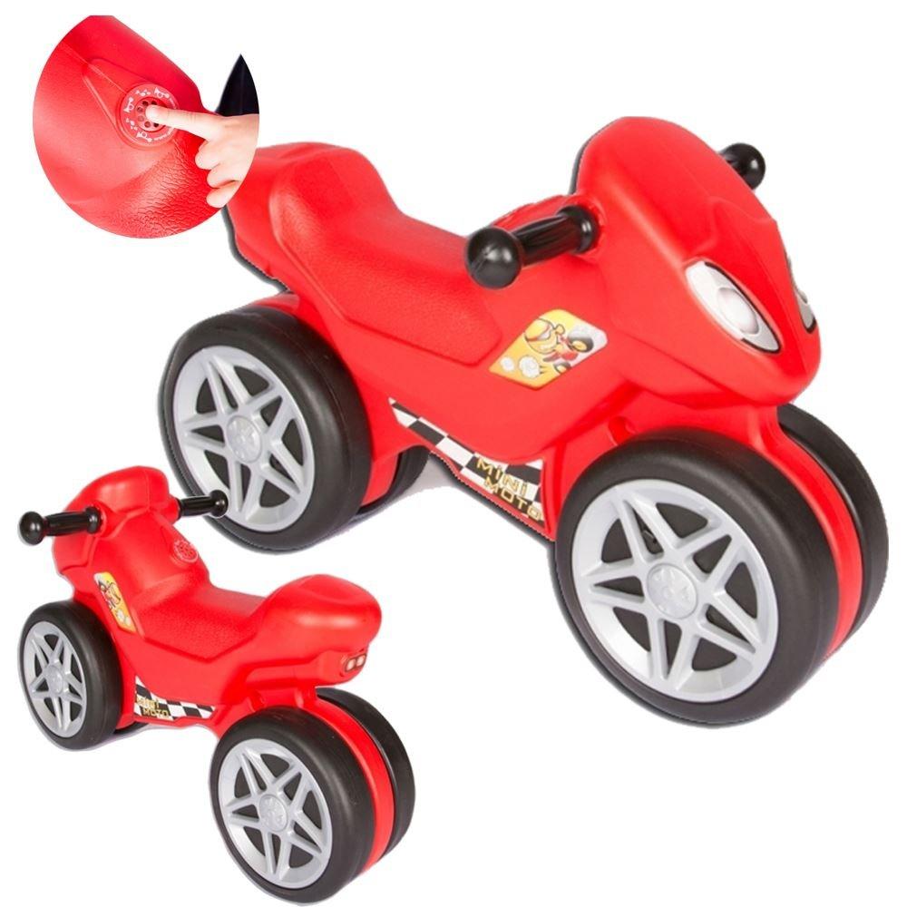 Pilsan Sit On Ride Along Balance bike Mini Moto Balance Bike with Sound in Red