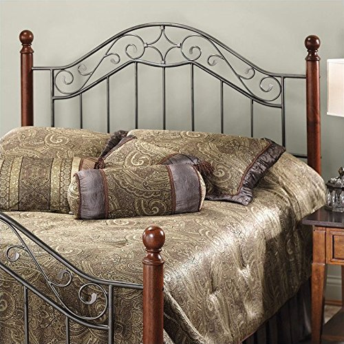 Hillsdale Furniture 1392HK Hillsdale Martino Without Bed Frame King Headboard Smoke Silver -