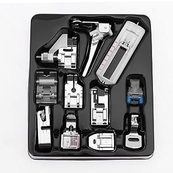 Prensatelas Accesorios para Máquina de coser Matefielduk 11pcs / set Kit de pie de prensatelas de máquina de coser doméstica multifuncional: Amazon.es: ...