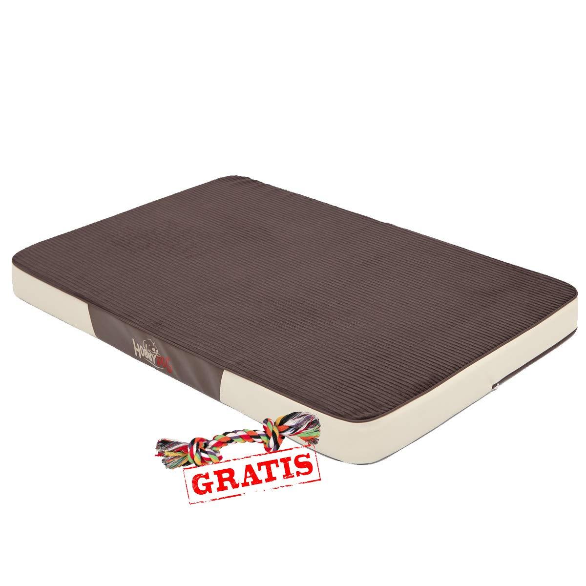 outlet online economico Hobbydog Premium mprcrz3 + + + Ball gratis cani letto Cord Eco Pelle hundematte Materasso, posto per dormire (3 diverse misure)  consegna lampo