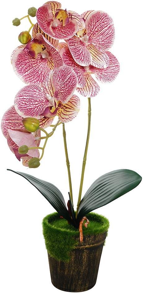 Phalaenopsis Leaves Flowers Orchid Artificial Plants Bouquet Wedding Home Decor