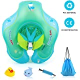 Delicacy [Baby Floats] Baby Swimming Ring, Infant Floats Adjustable Waist Infant Inflatable Ring, Baby Swimming Floats for 6-30 month with Manual Pump and Float Toys