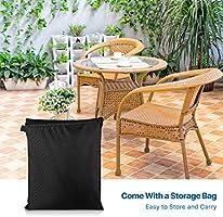 RATEL Funda Protectoras Muebles Jardin, 420D Paño Oxford Funda Protectora para Mesa de Comedor Redonda Impermeable a Prueba de Viento Cubierta de Mesa de jardín (Ø128x71cm): Amazon.es: Jardín
