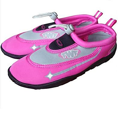 0a8dcc352cee4a TWF Beach Swimming Aqua Shoes. Child   Adult Pink Shoes  Amazon.co.uk   Sports   Outdoors