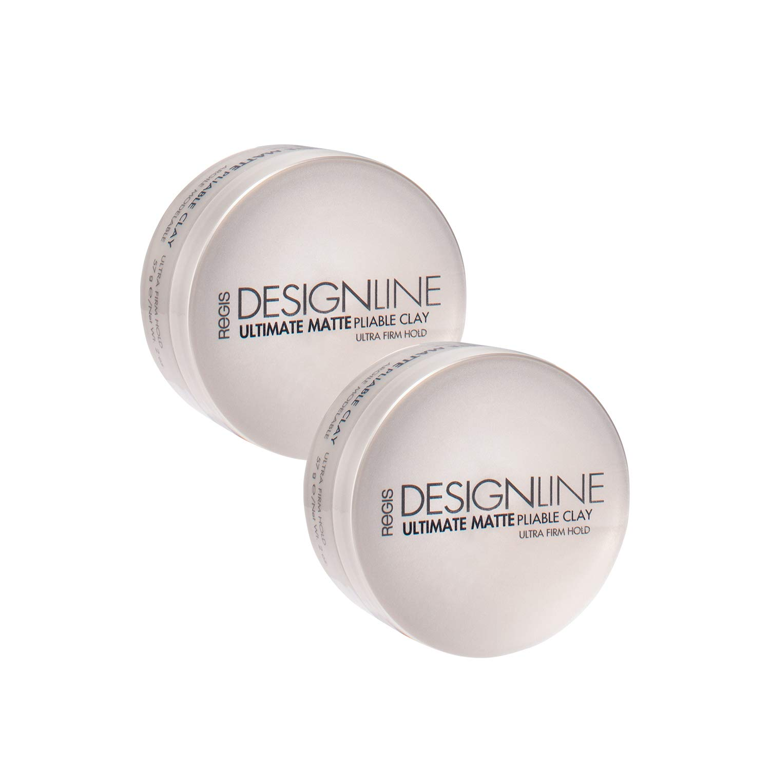 Ultimate Matte Pliable Clay, 2 Pack - Regis DESIGNLINE - Provides Serious Texture, Movement, and Definition with a Flexible Hold for All Hair Styles by DESIGNLINE