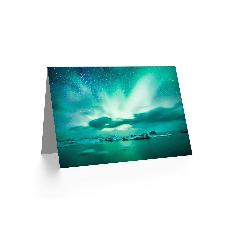 Wee Blue Coo CARD GREETING AURORA BOREALIS NORTHERN LIGHTS GIFT