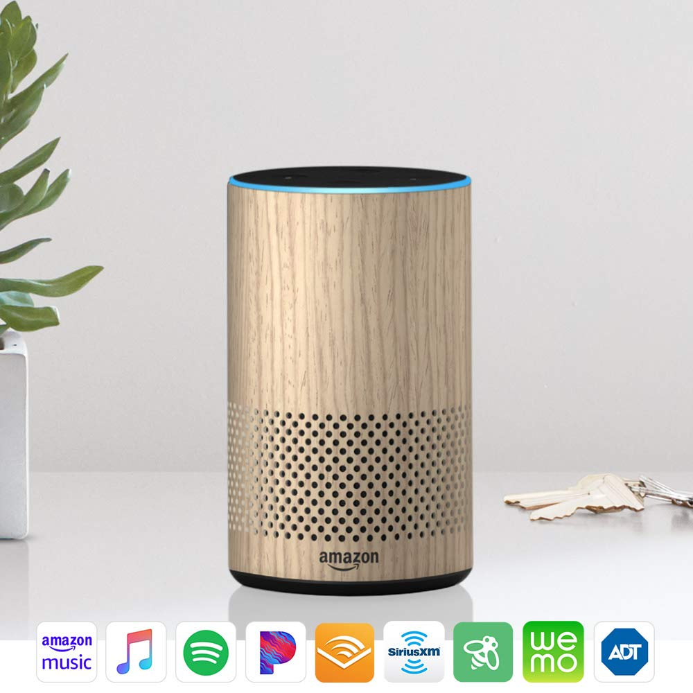 Echo (2nd Generation) – Smart speaker with Alexa and Dolby processing  – Charcoal Fabric