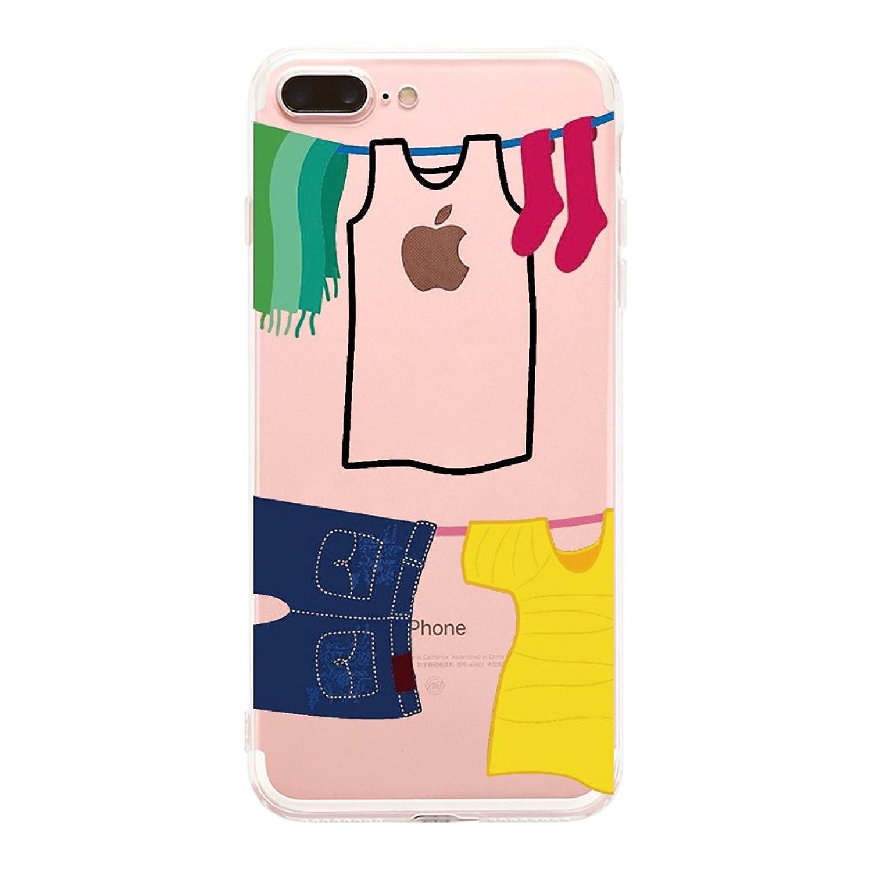 Funda iPhone7 Plus/8 Plus, Golbsky Funda Transparente Suave TPU Gel [Ultra Fina] [Protección a Bordes y Cámara] Enjaca Perfecta para Apple iPhone7 Plus/8 Plus