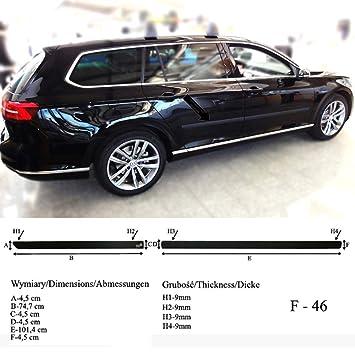 Spangenberg Listones de protección Lateral, Color Negro, para Volkswagen Passat B8 Variant Tipo 3G5