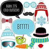 Big Dot of Happiness Winter Party - Photo Booth Props Kit - 20 Count
