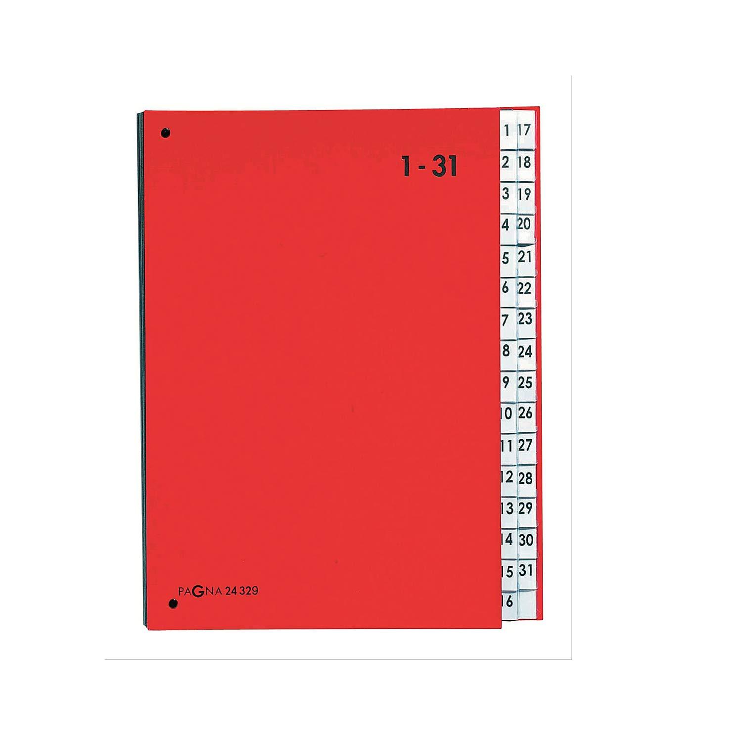 DIN A4 rot 31 Fächer 1-31 PAGNA Pultordner Color